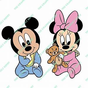 Baby Mickey Mouse, Baby Minnie Mouse svg, dxf, png, eps ...