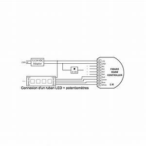 Branchement Ruban Led : fibaro rgbw controller fgrgb 101 micromodule pour lampes basse tension 12 24v et rubans led ~ Medecine-chirurgie-esthetiques.com Avis de Voitures