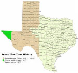 Texas Time Zone Map
