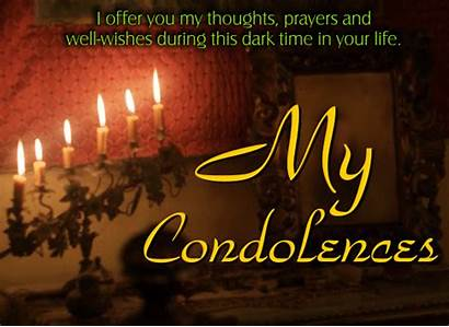 Card Condolence Sympathy Condolences Departed Send Encouragement