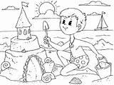 Sommer Sandcastle Sand Coloring Castle Zum Ausmalbilder Mayo Por Admin sketch template