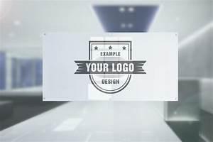 Logo On Office Door Glass Plate Effect