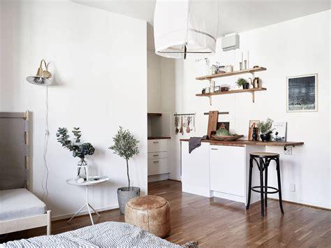 Tiny Scandinavian Studio Loft by Gravity Home Scandinavian Studio Apartment Studio