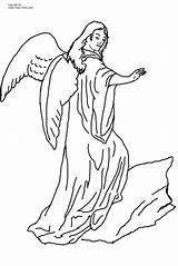 Coloring Angel Guardian Male Pages Popular sketch template