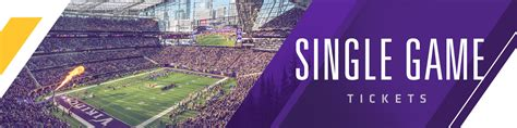 vikings single game  minnesota vikings vikingscom