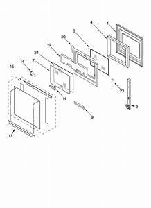 Oven Door Parts Diagram  U0026 Parts List For Model Rbs305pdb16