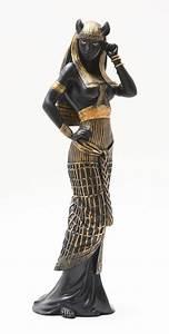 Ancient egyptian large goddess bastet statue cat human ...