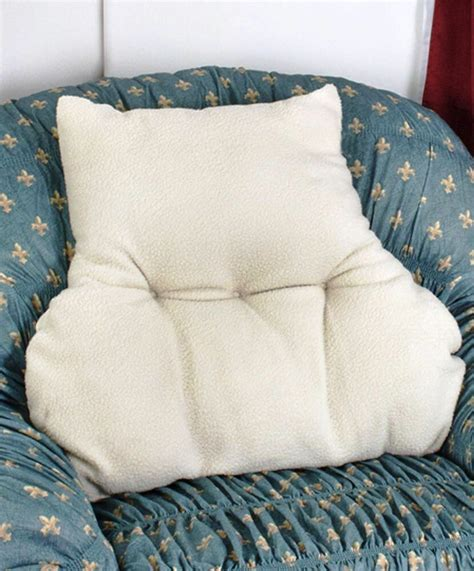 Armchair Pillow by New Faux Armchair Sheepskin Back Lumbar Support Pillow