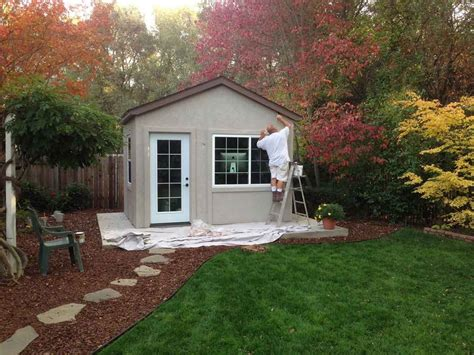 Backyard Business Ideas - to business with this backyard office tuff shed