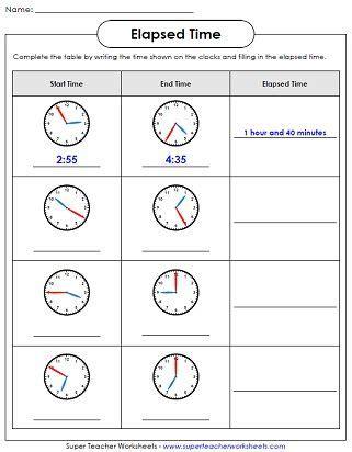 math aids elapsed time worksheets printable math