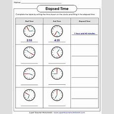 Elapsed Time Worksheets  School  Pinterest  Elapsed Time, Worksheets And Math