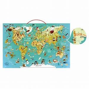 Carte Du Monde En Bois : puzzle 78 pi ces magn tique en bois carte du monde fantastique jeux et jouets vilac avenue ~ Teatrodelosmanantiales.com Idées de Décoration