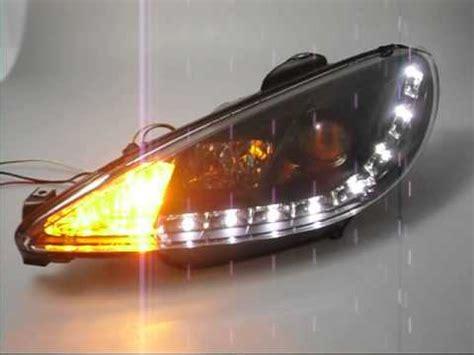 peugeot 206 scheinwerfer swlight scheinwerfer peugeot 206 black led standlichtleiste sw tuning