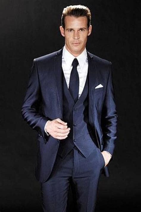 navy wedding groom navy suit  weddbook