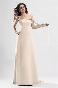 cream simple column thick straps sleeveless chiffon With simple cream wedding dresses