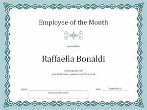 employee of the month certificate template template haven With employee of the month certificate template with picture