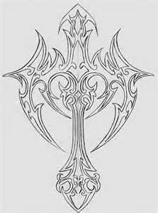 drawings of crosses and roses | Drawings Of Crosses With Ribbons And Roses Cross with ribbon