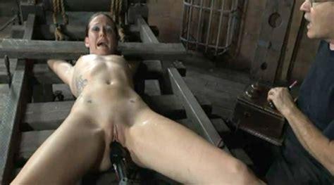 nude girl on torture rack bdsm fetish