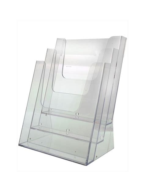 document holder  tier desk top clear acrylic office