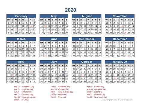 retail accounting calendar     printable