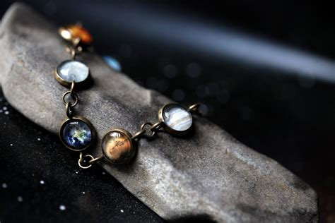Solar System Bracelet Milky Way Galaxy Planet Jewelry