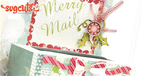 merry mail card holder  kathy helton svgcutscom blog