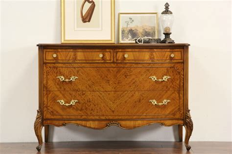 French Style 1940's Vintage Satinwood Chest Or