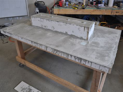 led concrete patio table with built in beverage cooler make