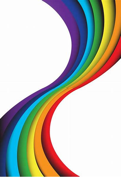 Rainbow Background Wave Abstract Vector Clipart Graphics