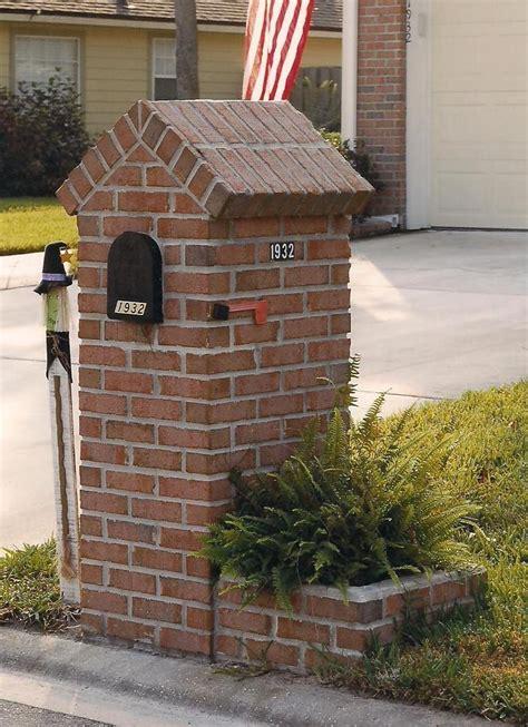 brick l post designs brick mailbox outdoor projects pinterest brick