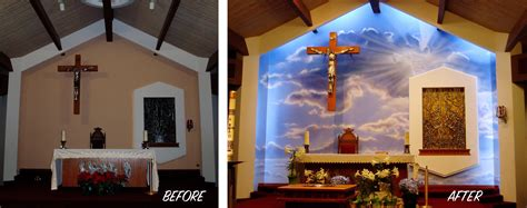 Church Altar Mural Art
