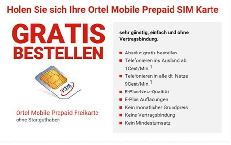Ortel Mobile Sim Karte Registrieren