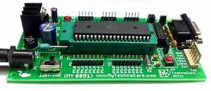8051 Microcontroller Board With Zif Socket