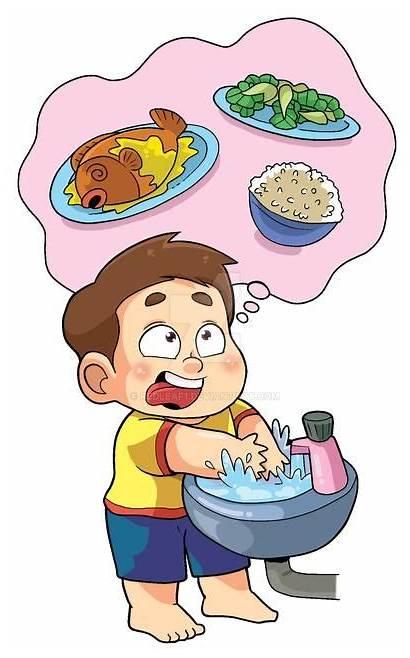 Before Washing Eat Wash Hands Eating Habits