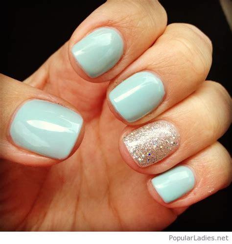 light blue nails light blue nail design idea