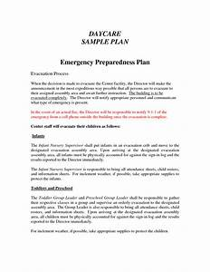 Best photos of sample emergency plan emergency for Daycare emergency preparedness plan template