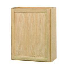 hton bay 24x30x12 in wall cabinet in unfinished oak