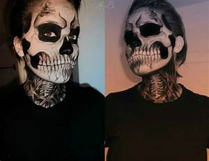 skeleton face paint | Voodoo Skull Face Paint | Halloween ...