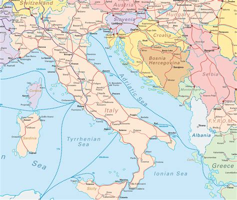 Carte Ferroviaire Italie