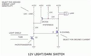 Circuit Project 12v Light    Dark Switch