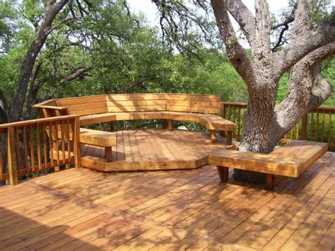 how to build a bench around the tree in your yard page 2
