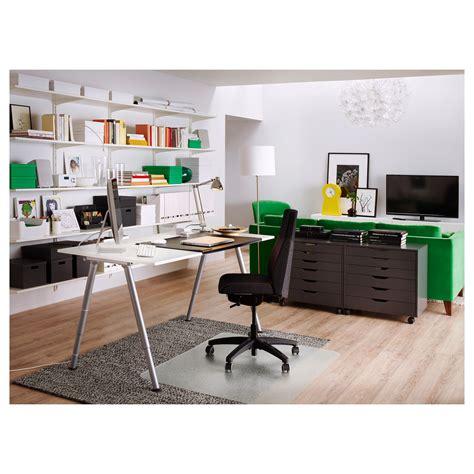 ikea office desk white thyge desk white silver colour 160x80 cm ikea