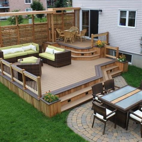 Backyard Deck Plans - decking wonderful outdoor home design with backyard deck
