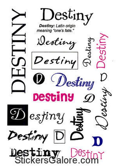 It Takes Two > you name it! Girls > Destiny Name Stickers