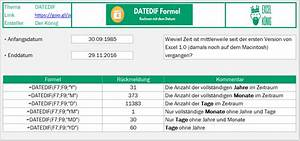 Zeitraum Berechnen Excel : so verwendest du die geheime datedif formel excel tipps und vorlagen ~ Themetempest.com Abrechnung