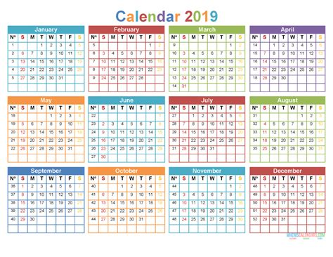 printable   month calendar template word