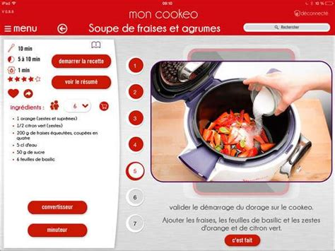 application recettes de cuisine mon cookeo l 39 application cookeo multicuiseur cookeo