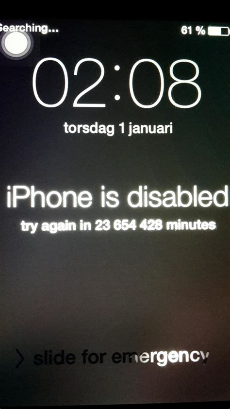 iphone 4s disabled my 4s jailbroken iphone is disabled for 45 years