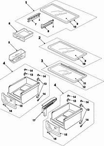 Refrigerator Shelves Diagram  U0026 Parts List For Model