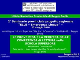 Ufficio Scolastico Regionale Reggio Emilia - ppt reggio emilia approach powerpoint presentation id
